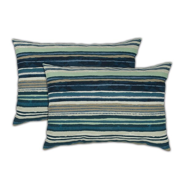 Lakeview Boudoir Outdoor Lumbar Pillow (Set of 2) by Sherry Kline