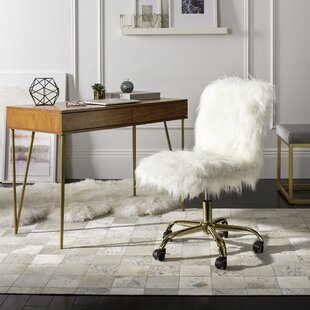 Faux Fur White Desk Chairs Youu0027ll Love | Wayfair