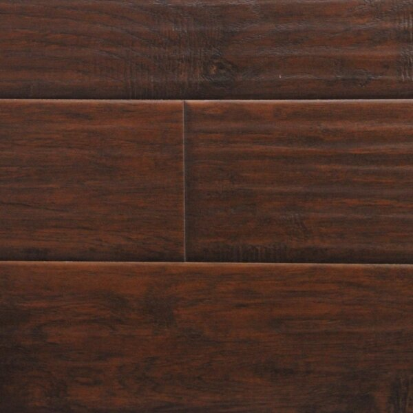 6 x 48 x 12.3mm  Laminate Flooring in Midnight Hickory (Set of 22) by Serradon