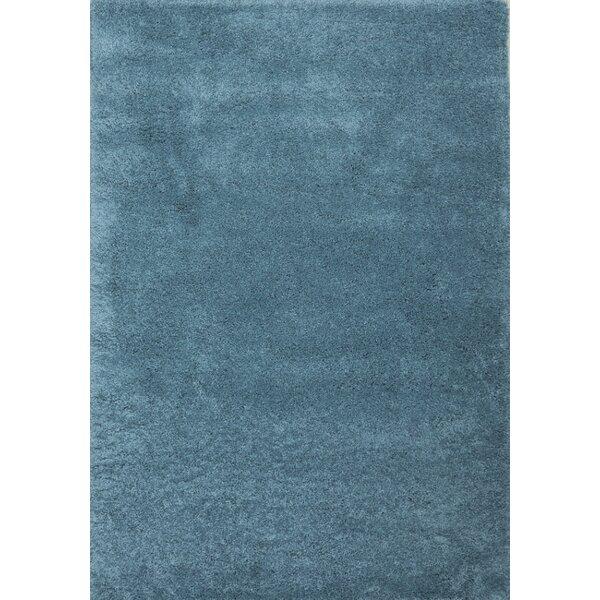 Super Shaggy Sage Blue Area Rug by Samnm Trade