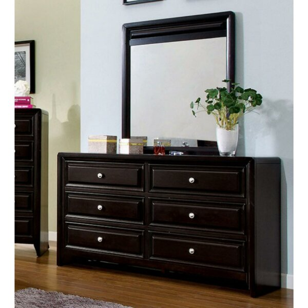 Jacqulyn 6 Drawer Double Dresser with Mirror by Darby Home Co