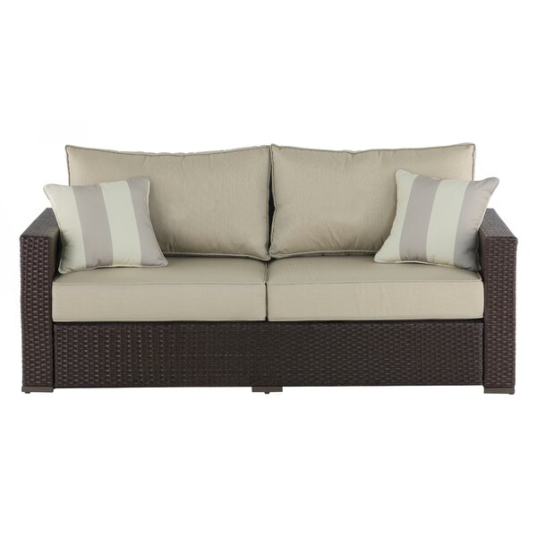 Laguna Outdoor Sofa with Cushions by Serta at Home