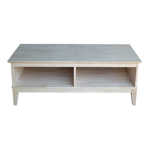 Interior County Coffee Table with Divider by Beachcrest Home
