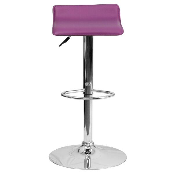 Claudine Adjustable Height Swivel Bar Stool (Set of 2) by Zipcode Design