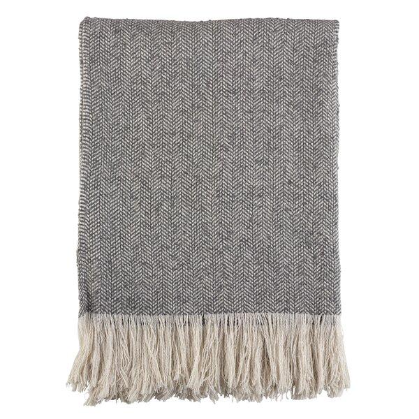 Sawyer Herringbone Fringe Tassel Hem Blanket by Ivy Bronx