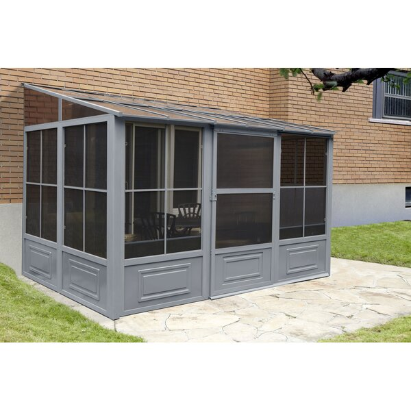 All Season Add-A-Room 16 Ft. W x 10 Ft. D Aluminum Wall Mounted Patio Gazebo by Gazebo Penguin