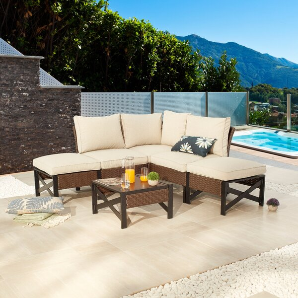 Aje 6 Piece Sectional Seating Group with Cushions