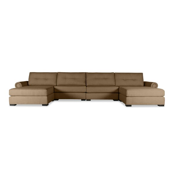 Willia Buttoned U-Shape Double Chaise Modular Sectional by Three Posts