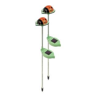 Inexpensive Solar Ladybug 1 Light Pathway Light (Set of 2) (Set of 2) By Ideaworks