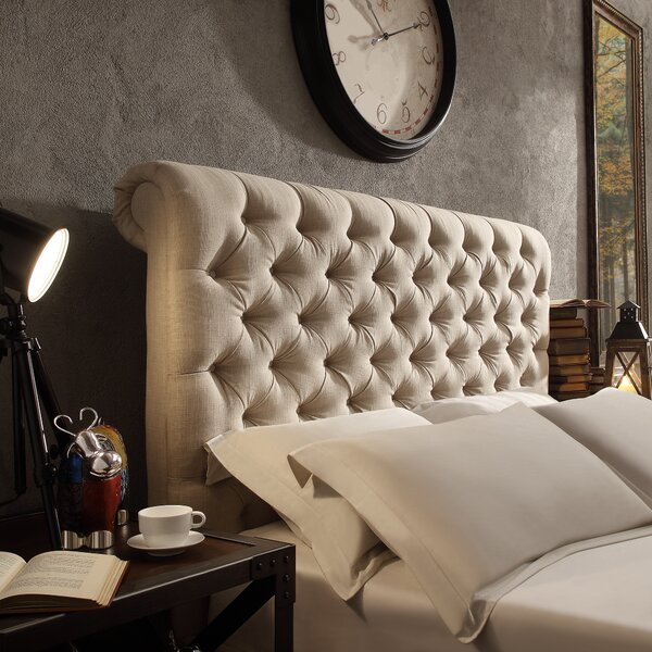 New Britain Upholstered Panel Headboard by Three Posts
