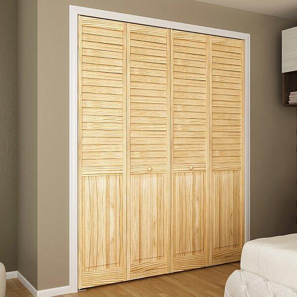 Plantation Louver Panel Wood Bi-Fold Door by Kimberly Bay