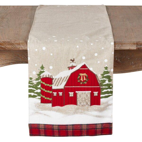 Beach Christmas Barn Table Runner by The Holiday Aisle
