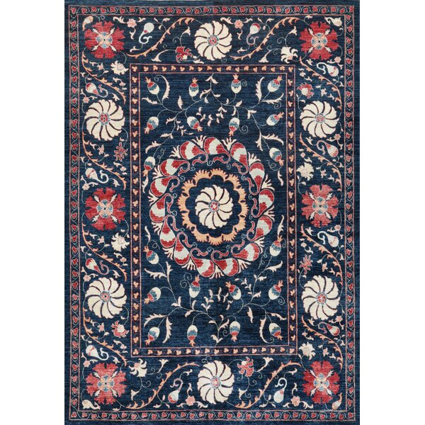 Suzani Hand-Knotted Multi-colored Area Rug by Pasargad