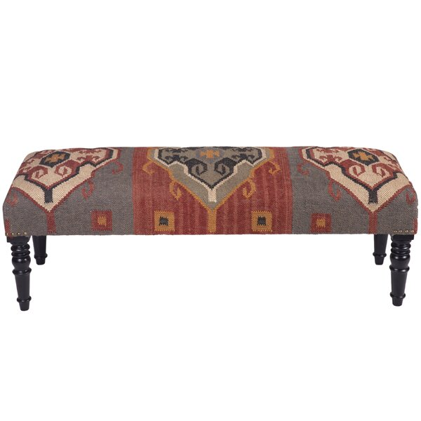 Dirks Solid Wood Bench By World Menagerie