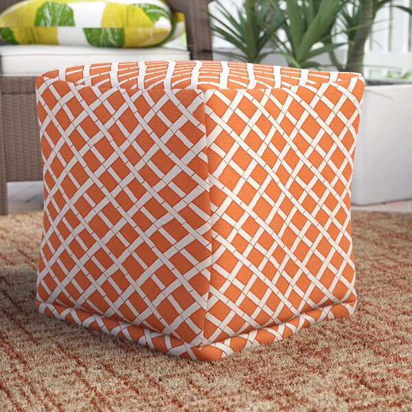 Gilbertown Small Cube Outdoor Ottoman By Ebern Designs by Ebern Designs #1