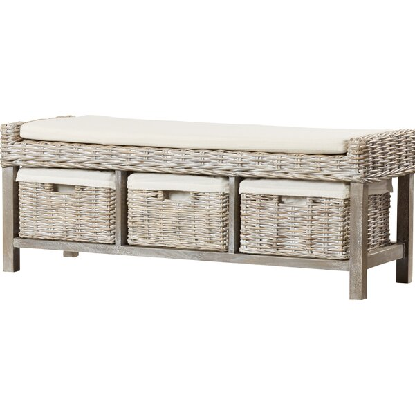 Sephina Upholstered Cubby Storage Bench By Rosecliff Heights