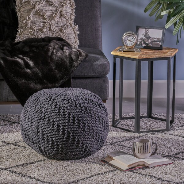 Macaulay Knitted Pouf by Bungalow Rose