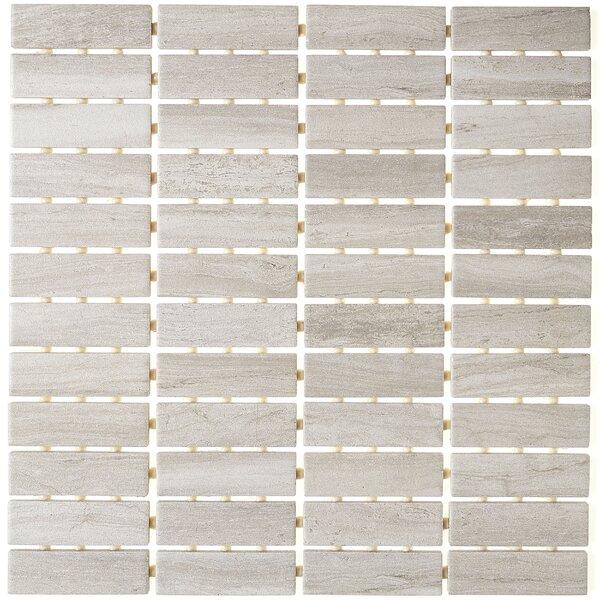 1 x 3 Ceramic Mosaic Tile in Column Gray by Itona Tile