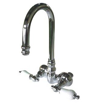Vintage Double Handle Wall Mounted Clawfoot Tub Faucet Trim By Kingston Brass