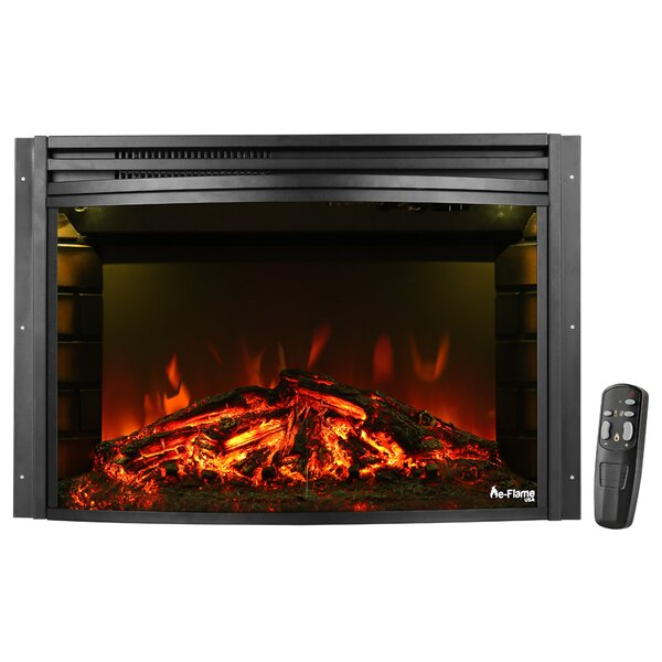 Curved Electric Fireplace Insert by e-Flame USA
