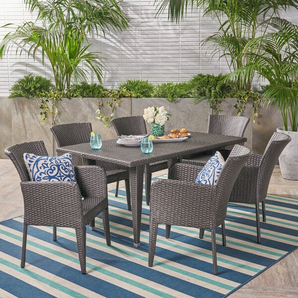 Aarhus 7 Piece Dining Set by Bungalow Rose