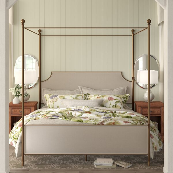 Williston Upholstered Canopy Bed by Birch Lane™ Heritage
