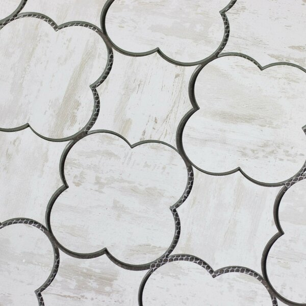 Nature Big Bang 6 x 6 Glass Tile in White by Abolos