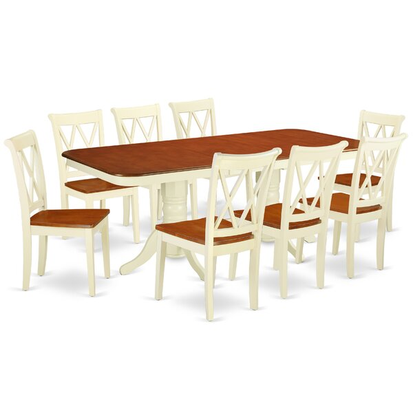 Kreutzer 9 Piece Extendable Solid Wood Dining Set by August Grove