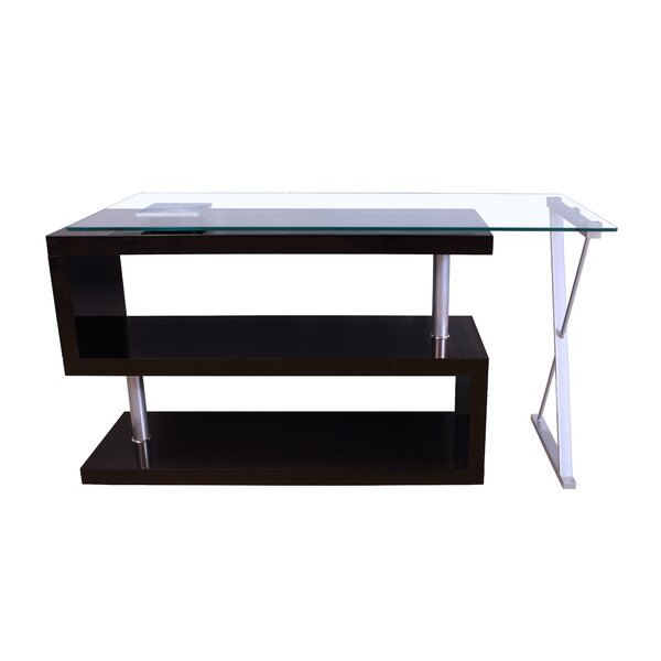 Lachlan High Gloss Convertible S-Shape Writing Desk by Orren Ellis