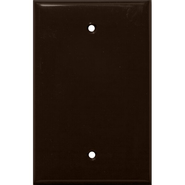 1 Gang Midsize Blank Lexan Wall Plates in Brown by Morris Products