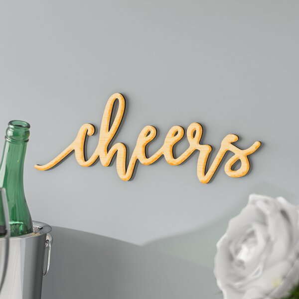 Cheers Wall Décor by Ebern Designs
