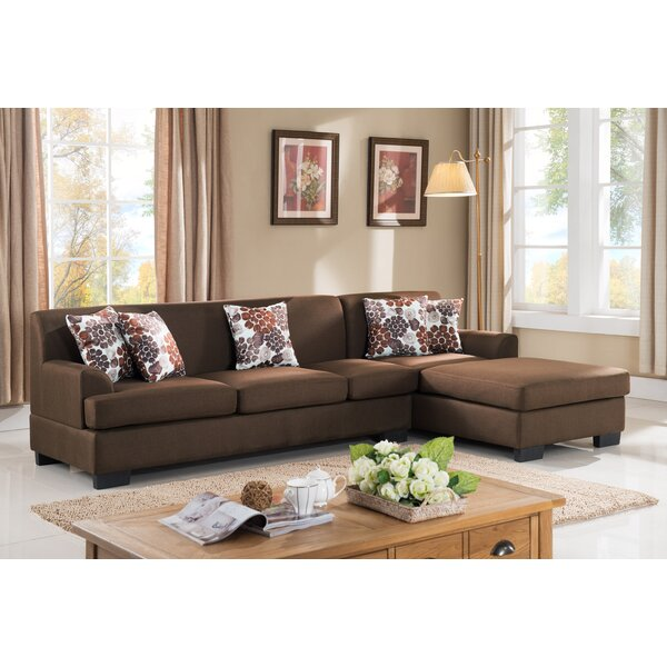 Best Reviews Geissler Reversible Sectional by Alcott Hill by Alcott Hill