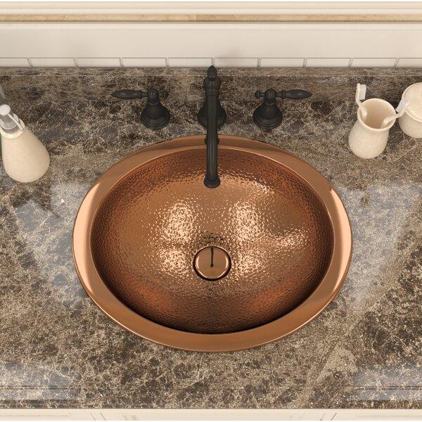 Roma Series Metal Oval Drop-In Bathroom Sink by ANZZI