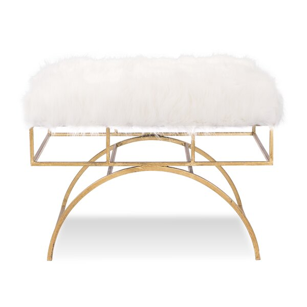 Ottoman Arcos, Fur Top by Pennisula Home Collection Co. Pennisula Home Collection Co.
