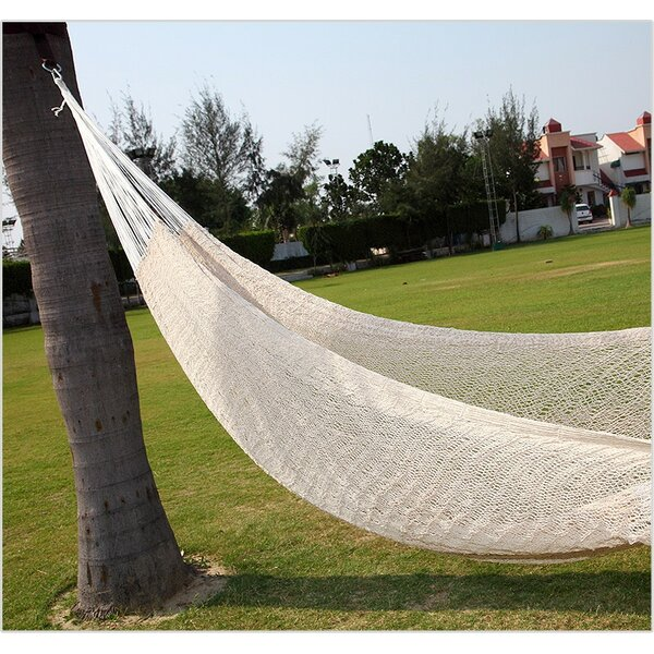 Lisa Double Tree White Cotton Hammock by Freeport Park