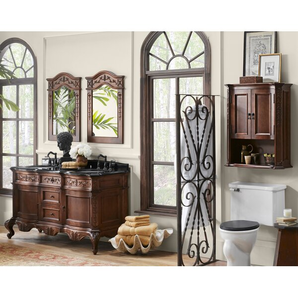 Bordeaux 60 Double Bathroom Vanity Set with Mirror by Ronbow