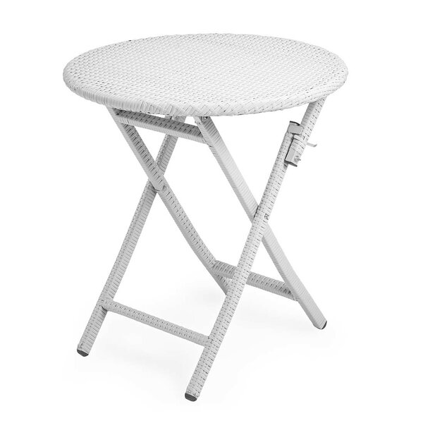 Tangier Wicker Folding Round Bistro Table by Plow & Hearth