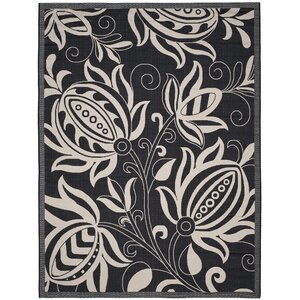 Laurel Black & Tan Indoor/Outdoor Area Rug