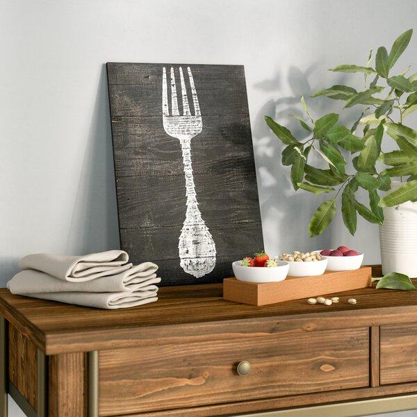 Reclaimed Wood Fork Print by Birch Lane™
