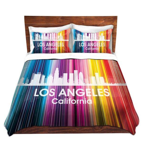 City II Los Angeles California Duvet Cover Set