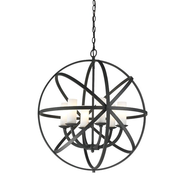 Fridley 6 - Light Unique / Statement Globe Chandelier by Ivy Bronx Ivy Bronx