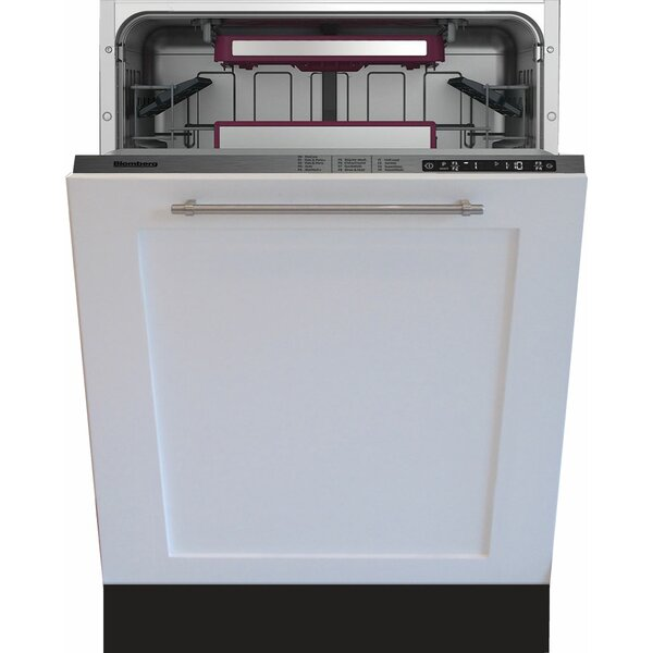 24 45 dBA Built-In Dishwasher with Panel Overlay by Blomberg