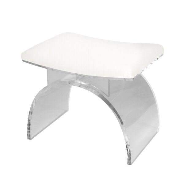 Lucite Arched Vanity Stool by Worlds Away