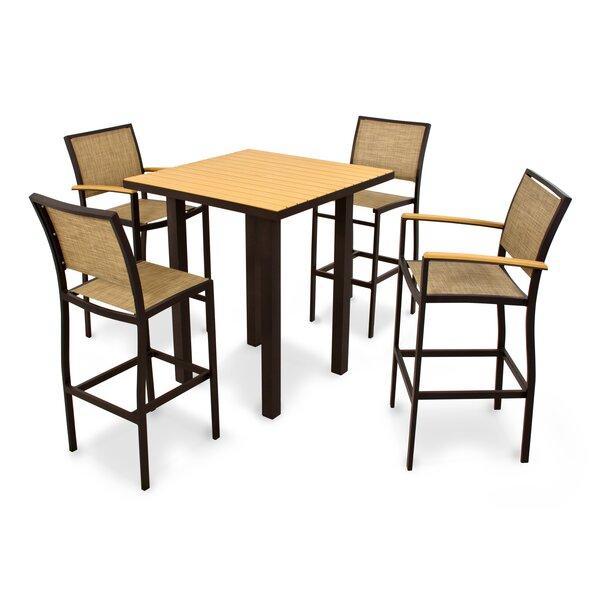 Bayline™ 5 Piece Bar Height Dining Set by POLYWOOD®