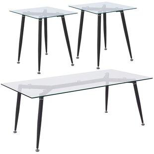 Clive 3 Piece Coffee Table Set Ebern Designs