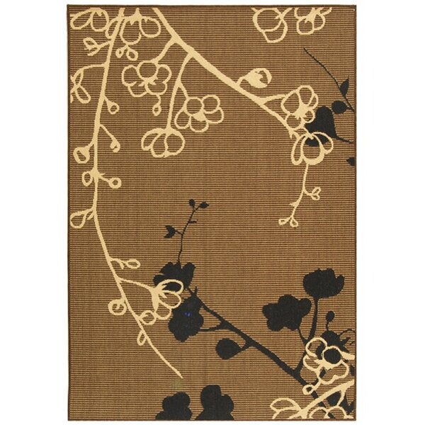 Wysocki Brown/Black Indoor/Outdoor Area Rug by August Grove