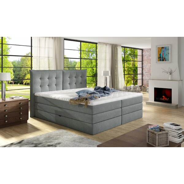 Schwager Upholstered Storage Standard Bed with Mattress by Brayden Studio