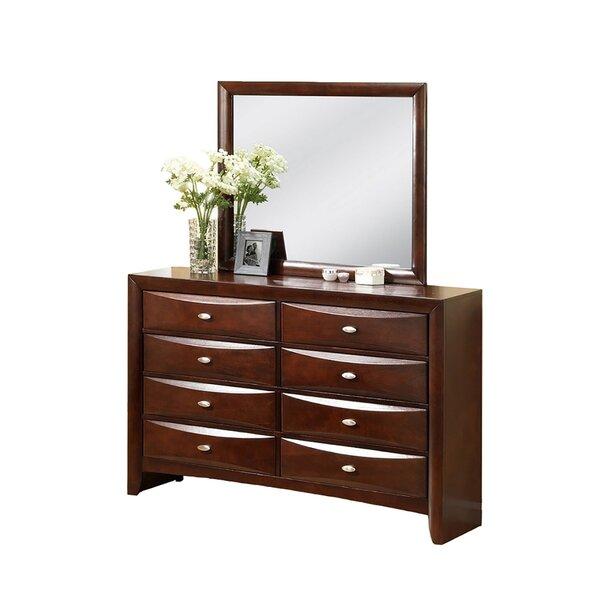 Corktown 8 Drawer Double Dresser with Mirror by Winston Porter