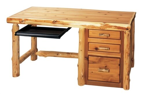 Traditional Cedar Log 4 Piece Desk Office Suite by Fireside Lodge