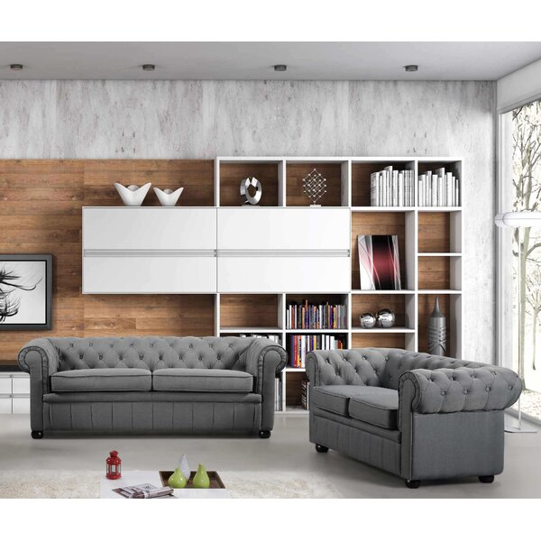 Kissling Chesterfield 2 Piece Living Room Set by Darby Home Co